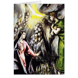 Carte de voeux de Vierge Marie d'annonce d'El