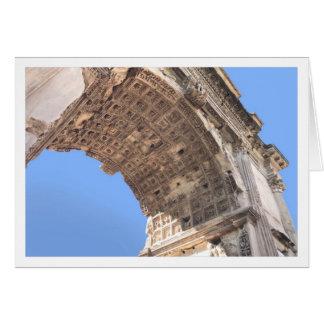 Carte de voeux de voûte de Titus