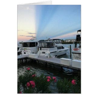 Carte de voeux de yacht