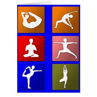 Carte de voeux de yoga