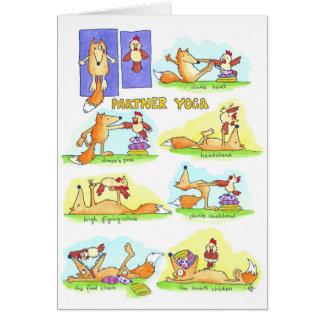 Carte de voeux de yoga d'associé par Nicole Janes