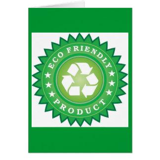 carte de voeux d'eco-amical-produit