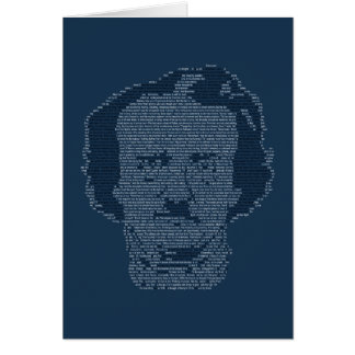 Carte de voeux d'Edgar Allen Poe