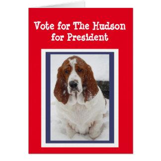 """Carte de voeux d'élection """"le Hudson"""" pour le"""