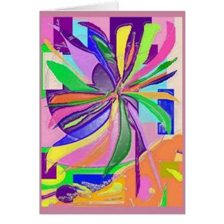 Carte de voeux d'enveloppe de fleur