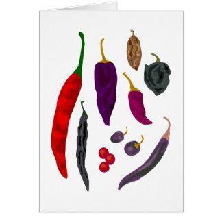 Carte de voeux d'épice de piments