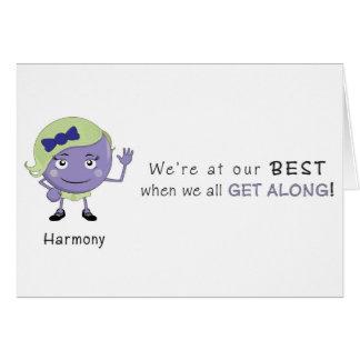 Carte de voeux d'harmonie