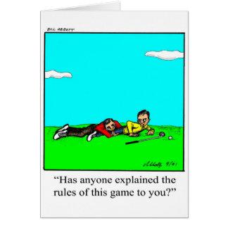 Carte de voeux d'humour de golfeur