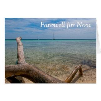 Carte de voeux d'île des Caraïbes d'adieu pour