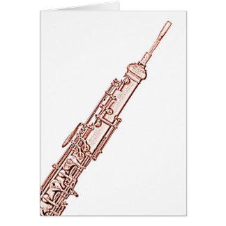 Carte de voeux d'image de hautbois faite pour