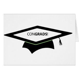 Carte de voeux d'obtention du diplôme de CONGRADS