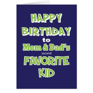 Carte de voeux drôle d'anniversaire d'enfant de