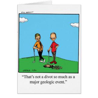 Carte de voeux drôle de blanc d'humour de golf