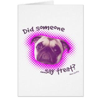 Carte de voeux drôle de chien de carlin