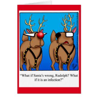 Carte de voeux drôle de Noël d'humour de renne