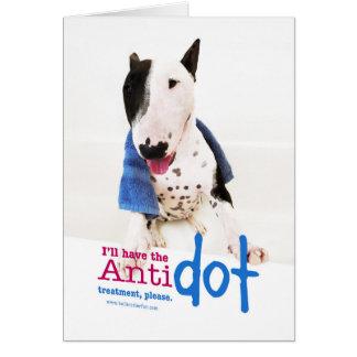 Carte de voeux drôle de photo de bull-terrier