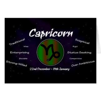 Carte de voeux du Capricorne de Sharnia