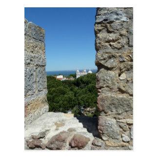 Carte de voeux du château de St George (Lisbonne,