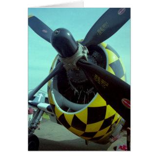 Carte de voeux du coup de foudre P-47