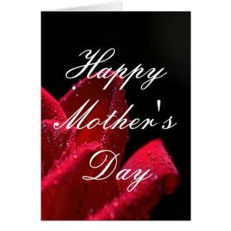 Carte de voeux du jour de mère de rose rouge