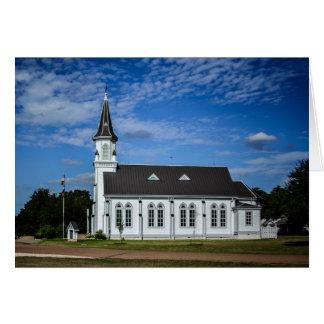 Carte de voeux - église de pays