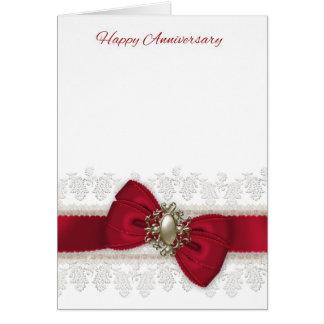 Carte de voeux élégante d'anniversaire de mariage