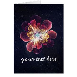 Carte de voeux faite sur commande de la fleur | de