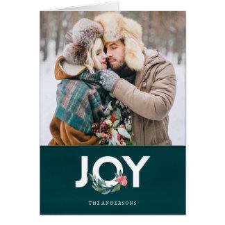 Carte de voeux florale de vacances de joie