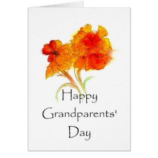 Carte de voeux florale du jour des grands-parents