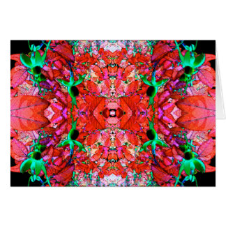 Carte de voeux fuchsia de mandala