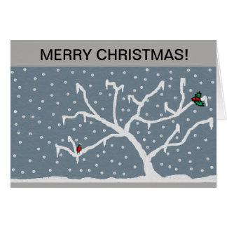carte de voeux givrée de Noël