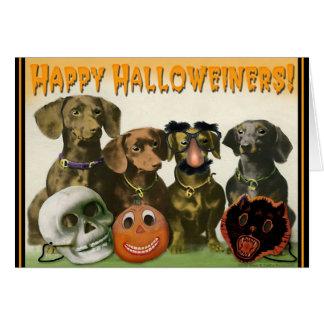Carte de voeux heureuse de Halloweiners
