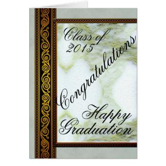 Carte de voeux heureuse d'obtention du diplôme