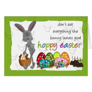 Carte de voeux humoristique de Pâques d'amusement