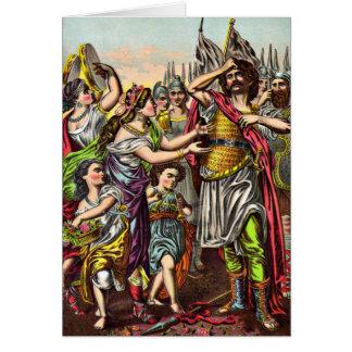 Carte de voeux impétueuse du voeu de Jephthah