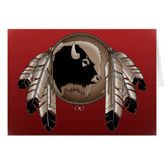 Carte de voeux indigène de faune de carte de