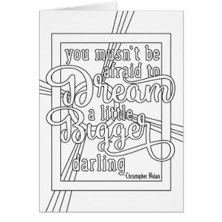 Carte de voeux inspirée - rêveur
