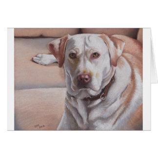 Carte de voeux jaune de Kako Labrador