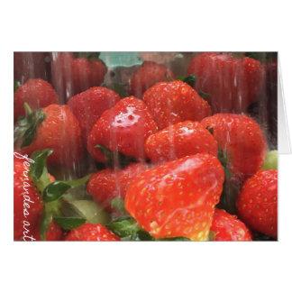 Carte de voeux lavée de fraises