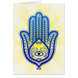 carte de voeux, main de Fatima