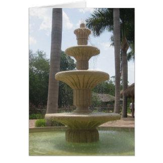 Carte de voeux mexicaine de fontaine