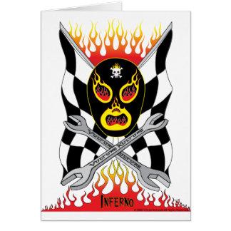 Carte de voeux mexicaine de lutteur de Luchador