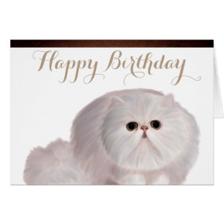 Carte de voeux mignonne d'anniversaire de chat