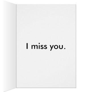 Carte de voeux mignonne de carlin - tu me manque