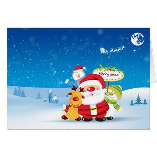 Carte de voeux mignonne de Noël