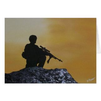 Carte de voeux militaire de carte