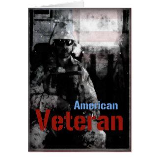 Carte de voeux militaire de vétéran américain