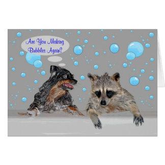 Carte de voeux nationale de jour de bain moussant