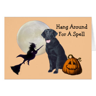 Carte de voeux noire de labrador retriever
