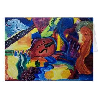 Carte de voeux originale d'art de jazz lent